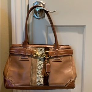 Coach Signature stripe Hamptons handbag